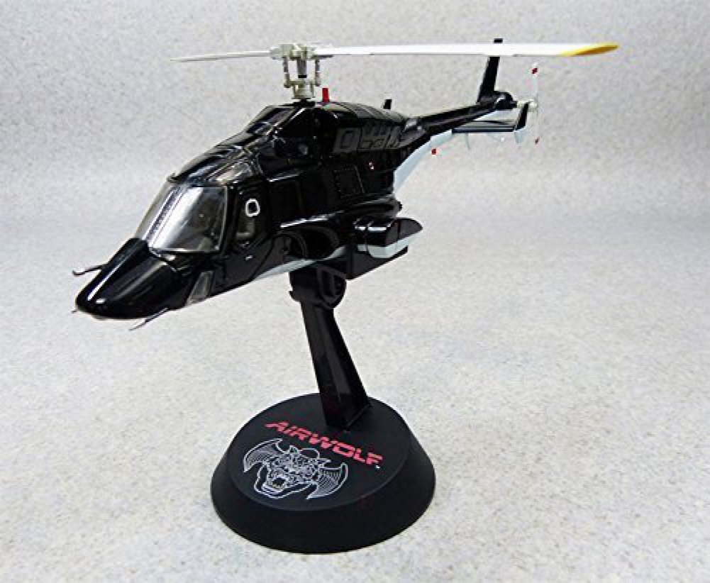 Aoshima Airwolf 1/48 scale high quality diecast model (metallic black)