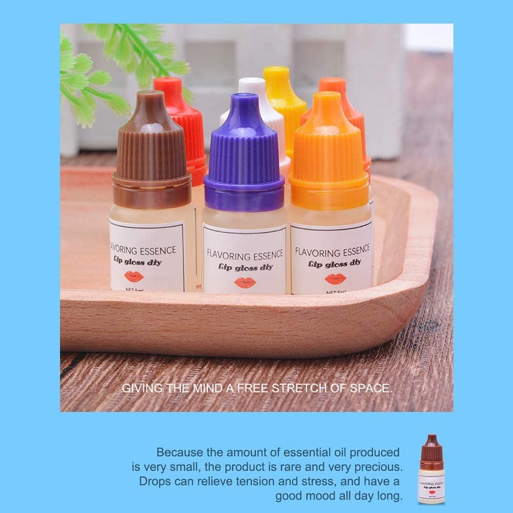 BSOA Flavoring Essence DIY Lip Gloss Drops, 6 Bottles Natural Food Grade Flavor Pure Lip Gloss Essence Lip Gloss Flavouring Oil for Handmade Cosmetic ...