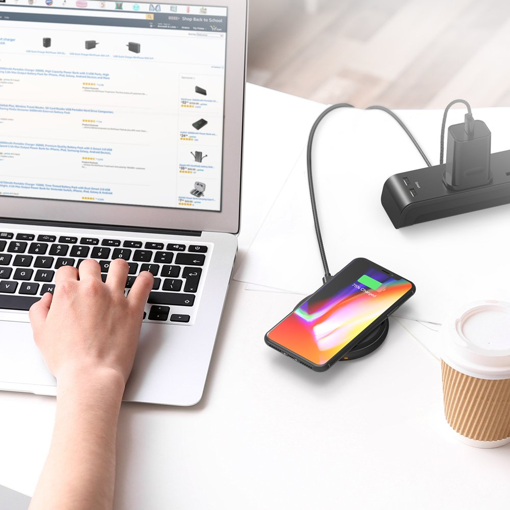 Fast Wireless Charger RAVPower 7.5W Compatible iPhone Xs MAX/XR/XS/X/8/8 Plus, with HyperAir, 10W Compatible Galaxy S9, S9+, S8, S7 & Note 8 and All Qi-enabled Devices (QC 3.0 Adapter Included) by RAVPower (Image #10)
