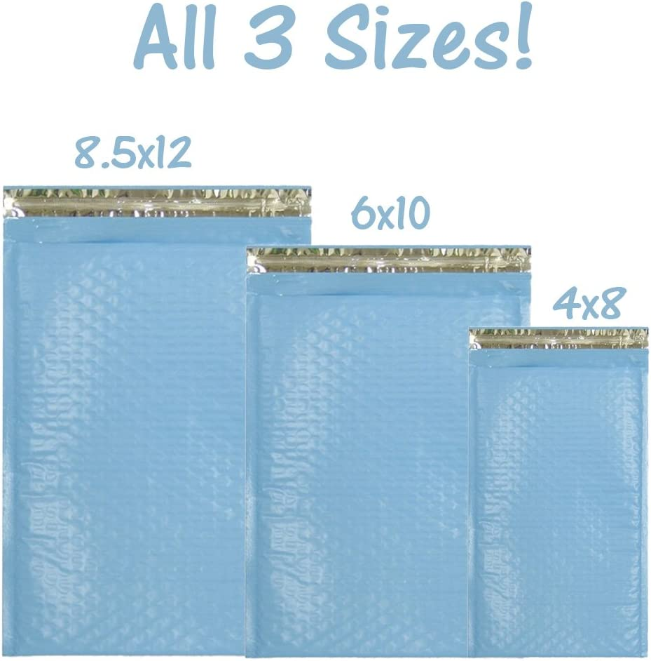 32 Poly Bubble Envelopes ~ 9 Size Padded Mailer Assortment ~ Self Sealing