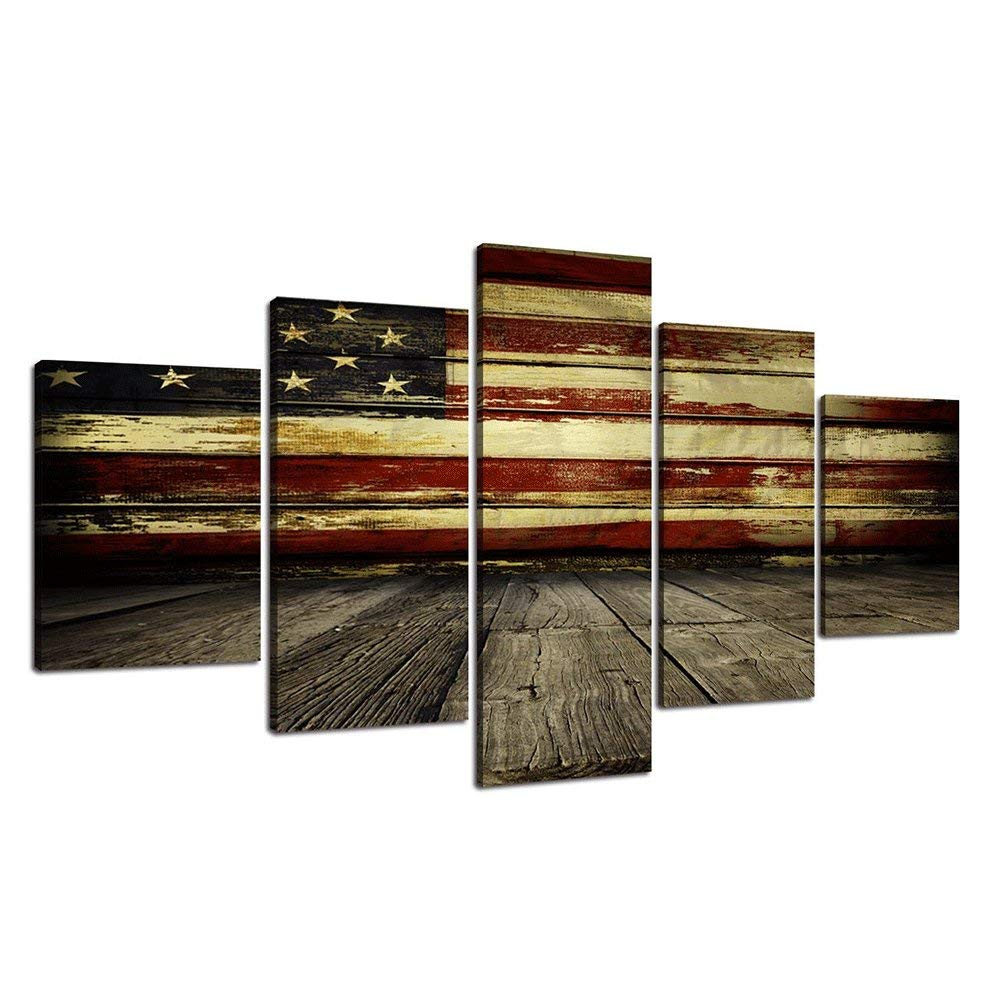 YOMIA 5D DIY Diamond Painting Embroidery Stitches American Flag Cross Stitch Patterns, Crystal Rhinestone Diamond Embroidery Paint Kits House Paint Rustic Wall Decor