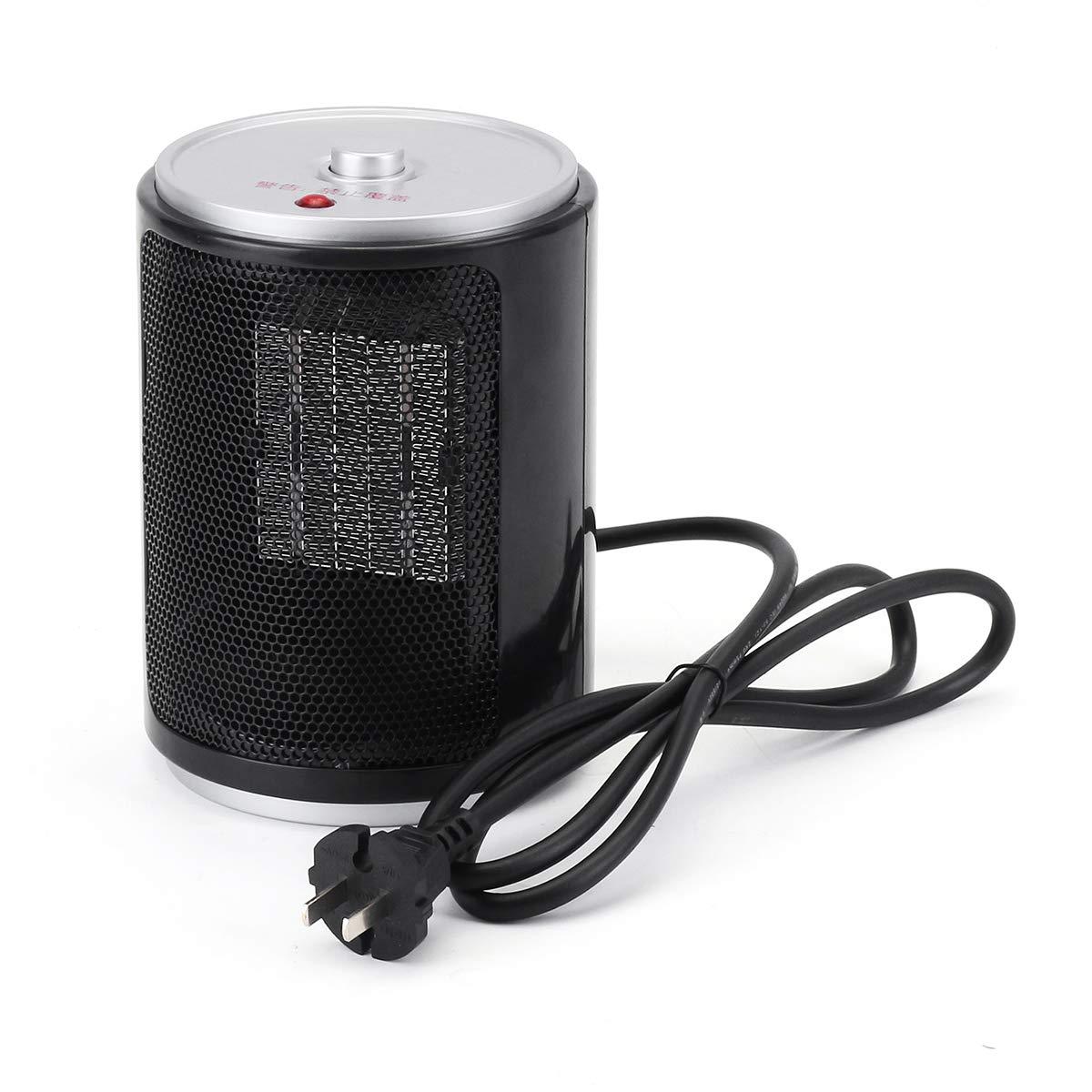 ZHENWOFC 500ワット220ボルトポータブル電気デスクトップミニエアヒーターファンホームオフィス暖かい暖房 New B07RFK1B87