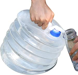 Collapsible Water Container with Spigot - 1.3/2.1/2.64Gallon Emergency Food Water Containers for Storage BPA Free with Spigot,for Hiking Survival Backpack Kit ( Size : 8L )