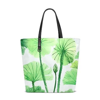 Amazon.com: GIOVANIOR - Bolsa de viaje con diseño de hojas ...