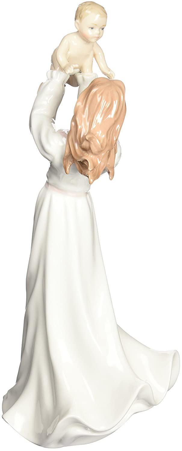Cosmos 10411 Lady Holding Baby Ceramic Figurine, 13-1 2-Inch