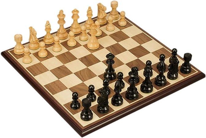 Juegos tradicionales Ajedrez Tablero de ajedrez de madera internacional Pieza de ajedrez de madera creativa Niños Desarrollo intelectual Aprender Juguetes Almacenamiento Damas Ajedrez Juegos de mesa A: Amazon.es: Hogar