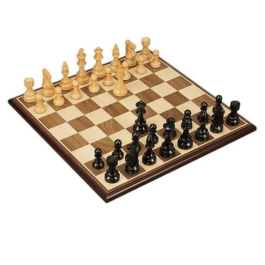 Juegos tradicionales Ajedrez Tablero de ajedrez de madera ...