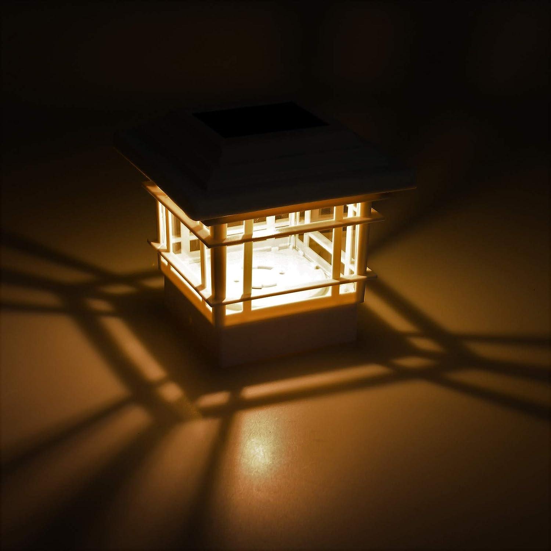 GreenLighting 12 Pack New Classica 15 Lumen Plastic Solar Post Cap Lights for 4x4 Wood Posts White