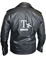 Grease Danny T Birds Black Motorcycle Synthetic Leather Jacket