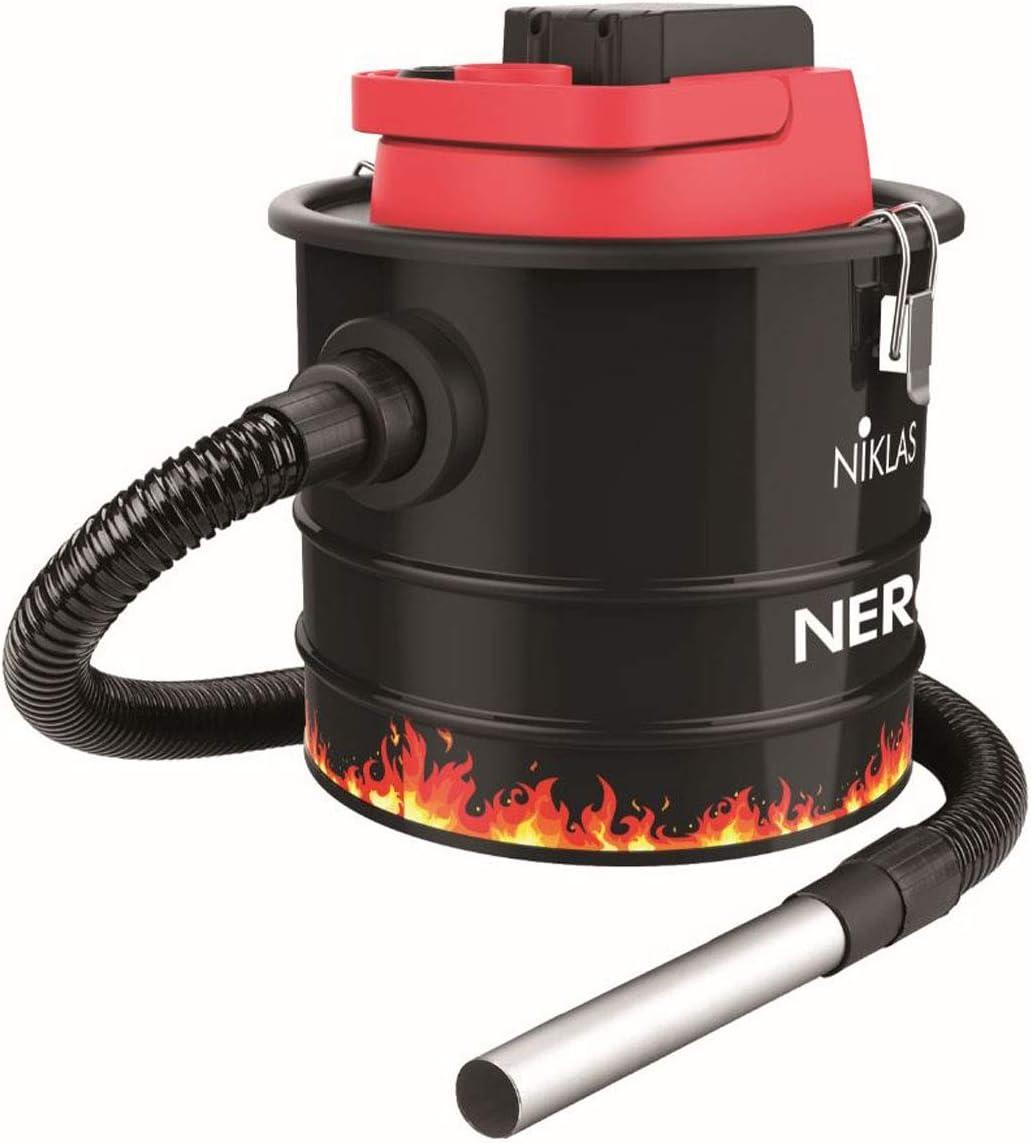 Niklas - Aspirador inalámbrico (18 V, 110 W, batería de litio recargable, cubo de 10 L, aspirador de cenizas + función soplador: Amazon.es: Bricolaje y herramientas