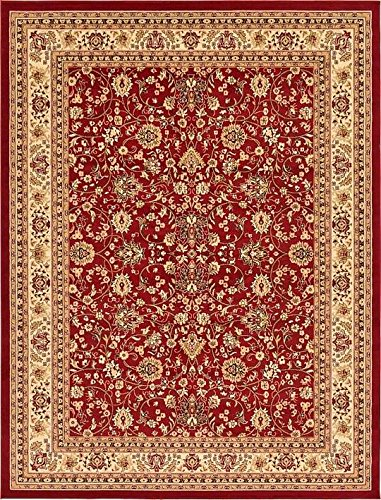 Unique Loom Kashan Collection Burgundy 9 x 12 Area Rug (9' x 12')
