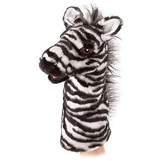 Folkmanis Puppets–2565–Marionetta e teatro–Zebra Stage Puppet