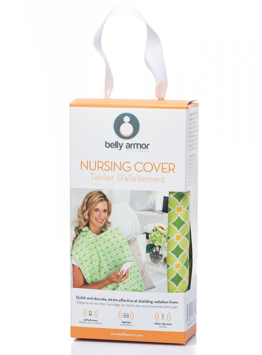 Belly Armor Nursing Cover with Anti-Radiation Shielding Fabric Mint