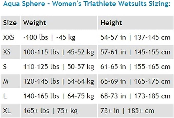 Mujer Aqua Sphere Racer Traje de Neopreno triatl/ón