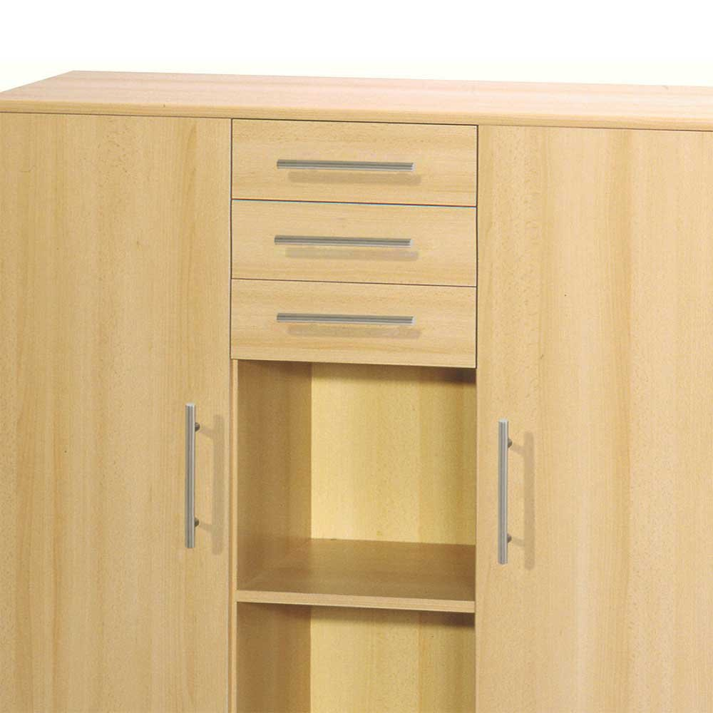 Sideboard büro aktenschrank buche suri pharao24: amazon.de: küche ...