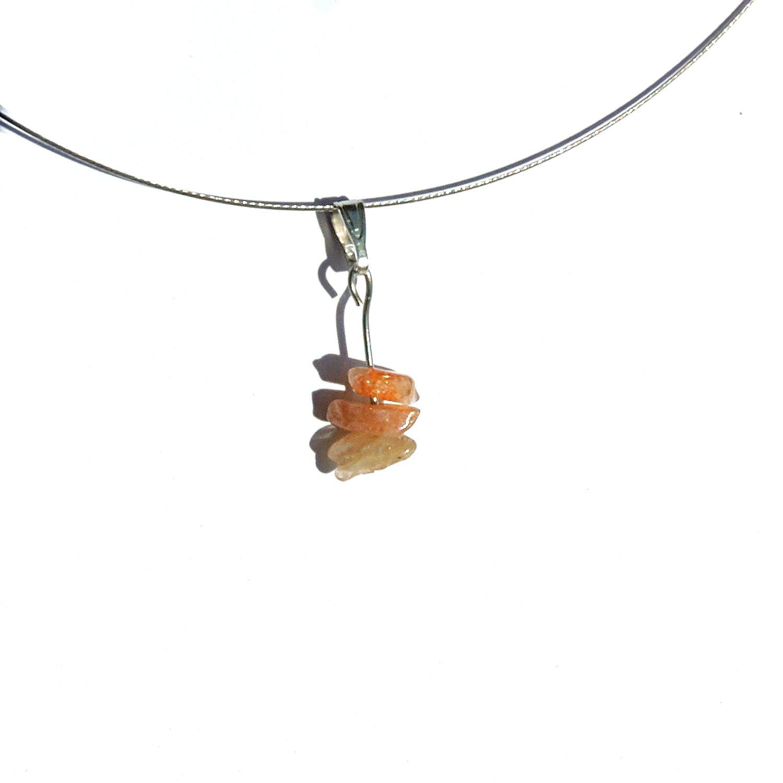 Colgante Sol piedra, joya collar fantasia piedras preciosas joya natural del sol, colgante, collar de piedras preciosas de lujo