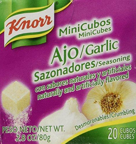 Knorr Minicubes Garlic Seasoning 2.8oz (Pack of 4) (Best Frozen Garlic Bread)