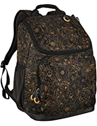 Embark Jartop Black/Gold Floral 17.5 Recycled Content Future Tech Backpack