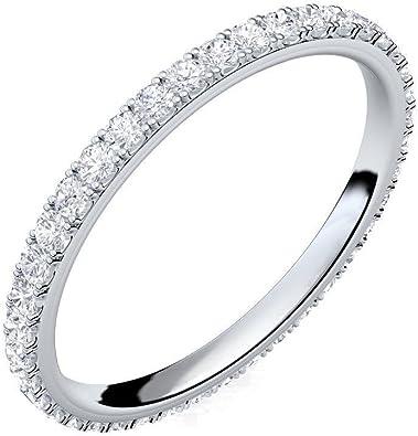 Silber Ring 925 Verlobungsringe Silber von AMOONIC mit