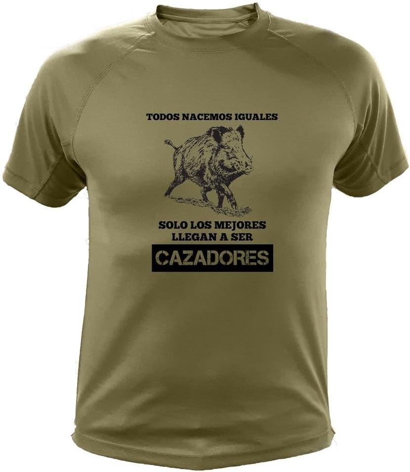 Jabal/í Dibujo AtooDog Camisetas de Caza Todos nacemos Iguales Solo los Mejores Llegan a ser Cazadores