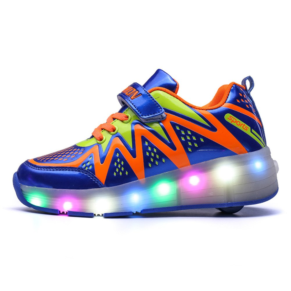 Boy Girls LED Light Roller Skate Shoes with Wheels Outdoor Sneaker