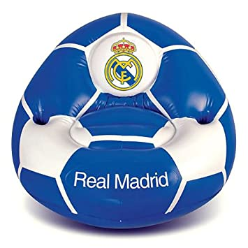 Club Licensed Real Madrid Silla Hinchable (65 x 85 x 80 cm) - Kids (Peso máximo 30 kg), Infantil, Blanco y Azul: Amazon.es: Deportes y aire libre
