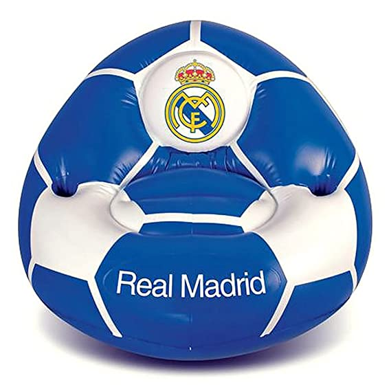 Real Madrid CF - Sillón hinchable (Talla Única) (Azul/Blanco ...