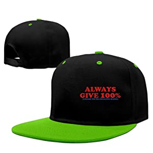 ALWAYS GIVE 100 PERCENT Boy Latest StyleRock Punk Snapback Hat Fitted Hats