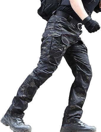 Zuoxiangru Pantalones Resistentes Al Agua Para Hombres Pantalones De Trabajo De Carga Militar De Combate Tactico De Ajuste Relajado Con Bolsillo Multiple Amazon Es Ropa Y Accesorios
