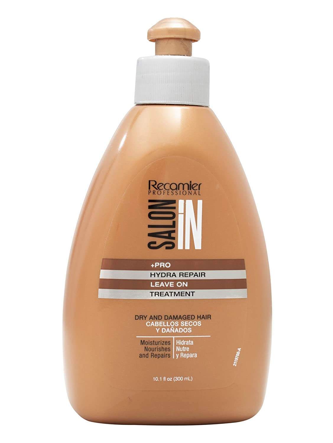 RECAMIER 34066 Leave-In Conditioner Detangler | Dry Damaged Hair Treatment | Comb Cream Styling Lotion | Deep Moisturizer | Hydrating Argan Oil Products | Tratamiento Cabello Seco Maltratado 10.1 OZ