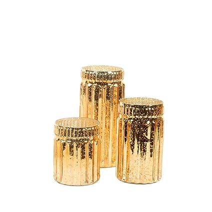 Amazon Koyal Wholesale Ribbed Mercury Glass Vases Bulk Set Of