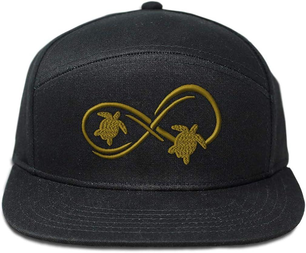 Custom Snapback Hats for Men /& Women Sea Turtle Infinity Couple B Embroidery