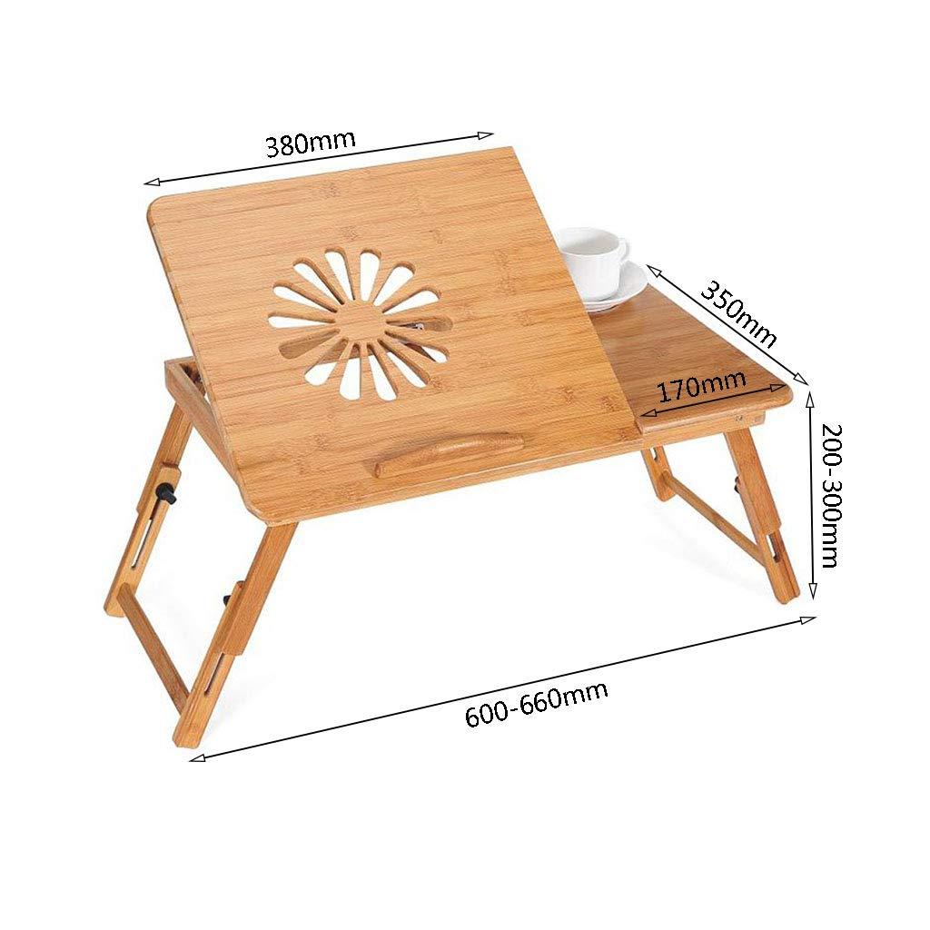 XUQIANG Bamboo Bed portátil Escritorio de la Tabla de Altura ...