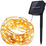 InnooLight Solar Starry String Lights 33 Feet Copper Warm White 100 Led Outdoor Lights Ambiance Lighting for Garden Christmas