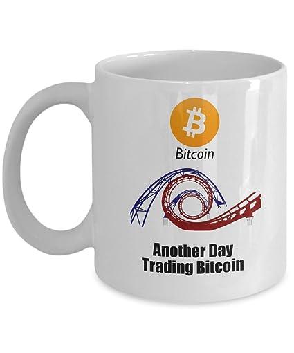 Amazon.com | BTC Coffee Mug - Another Day Trading Bitcoin ...