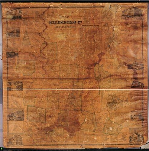 1858 map Hillsborough County New Hampshire of Hillsboro Co., New Hampshire / f