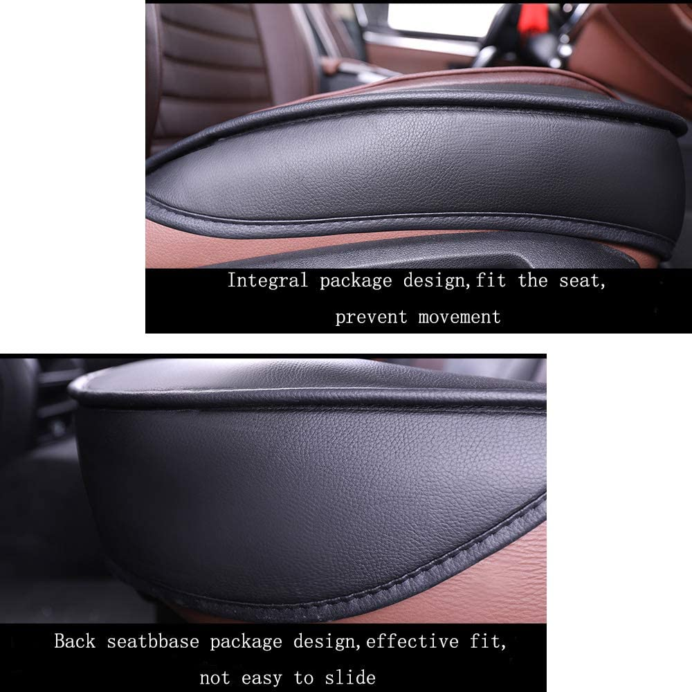 Super PDR Car Seat Cover 13 PCS Universal 5 Seat Full Leather Car Seat Cushion with Headrest Black/&Pink Waist Pillow for Truck or Van Suv