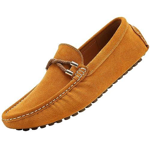 YAER Hombres Clásico Mocasines de Gamuza Zapatos de Conducción: Amazon.es: Zapatos y complementos