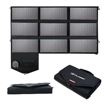ALLPOWERS 60W Cargador Panel Solar Batería Placa Plegable con 5V USB 18V DC y 9 Paneles Solares para iPhone los teléfonos móviles de Sumsung HTC del ...