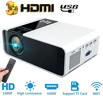 Hakeeta Proyector 3D, Ultra-HD 1280 * 720P 4K 5000 lúmenes ...