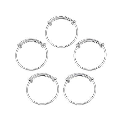 Amazon.co.jp: 5個ホワイトKステンレス鋼指リングアクセサリー