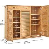 Armadietto di legno del pattino cremagliera del pattino di bambù legno  massello 4b37db9e34a