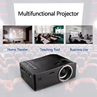 OUYAWEI HD 1080P TFTLCD Home Mini Proyector TV Multimedia Player Theater Home Cinema Video Proyector Negro UK Plug