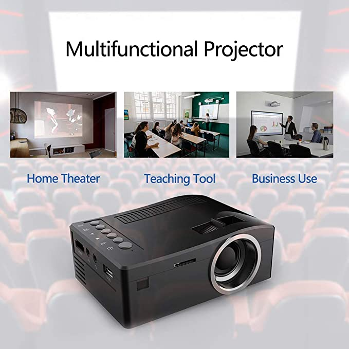 HD 1080P TFT LCD Home Mini Proyector TV Multimedia Reproductor ...