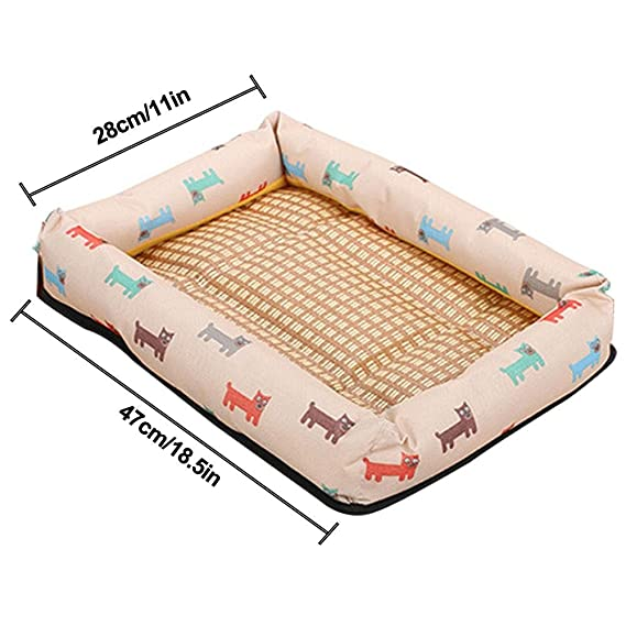 Alfombrilla de refrigeración para mascotas de Leegoal, alfombrilla de refrigeración natural y saludable para perro, cama respetuosa con el medio ambiente, ...
