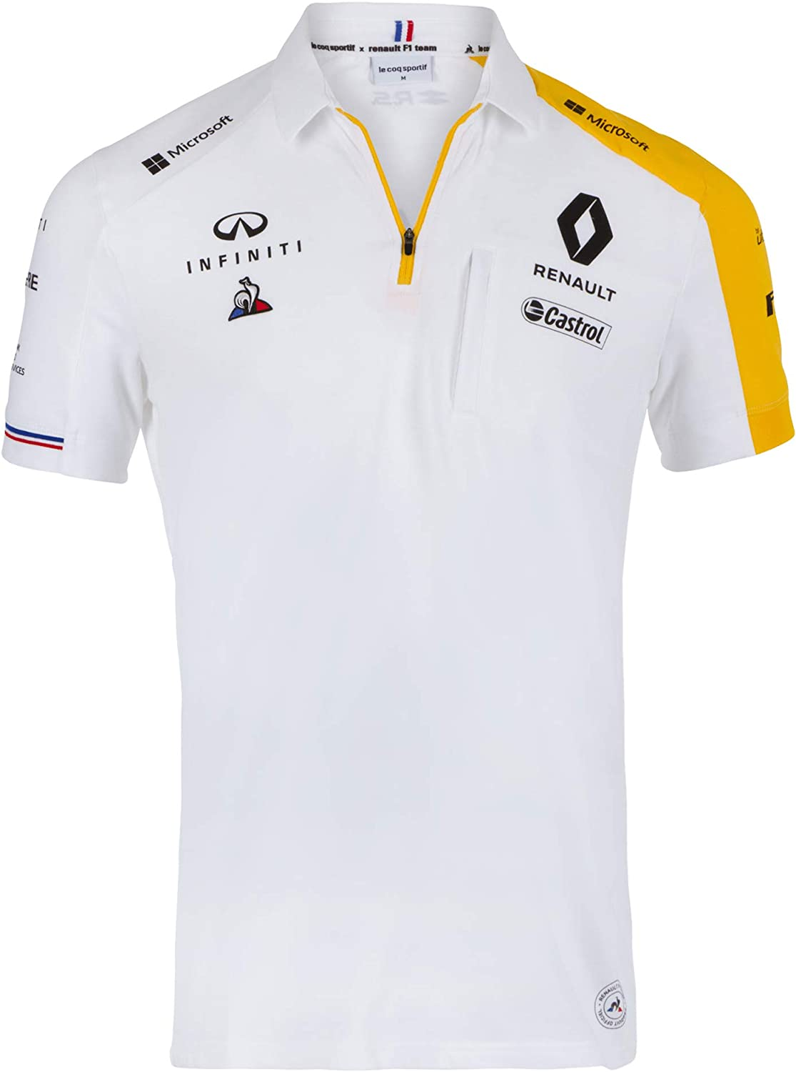 Renault F1 Team Polo Oficial para Hombre 2019, Color Blanco, Color ...