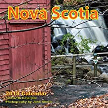 "Nova Scotia 2018 6.25""x6.25"" Monthly Wall Calendar"