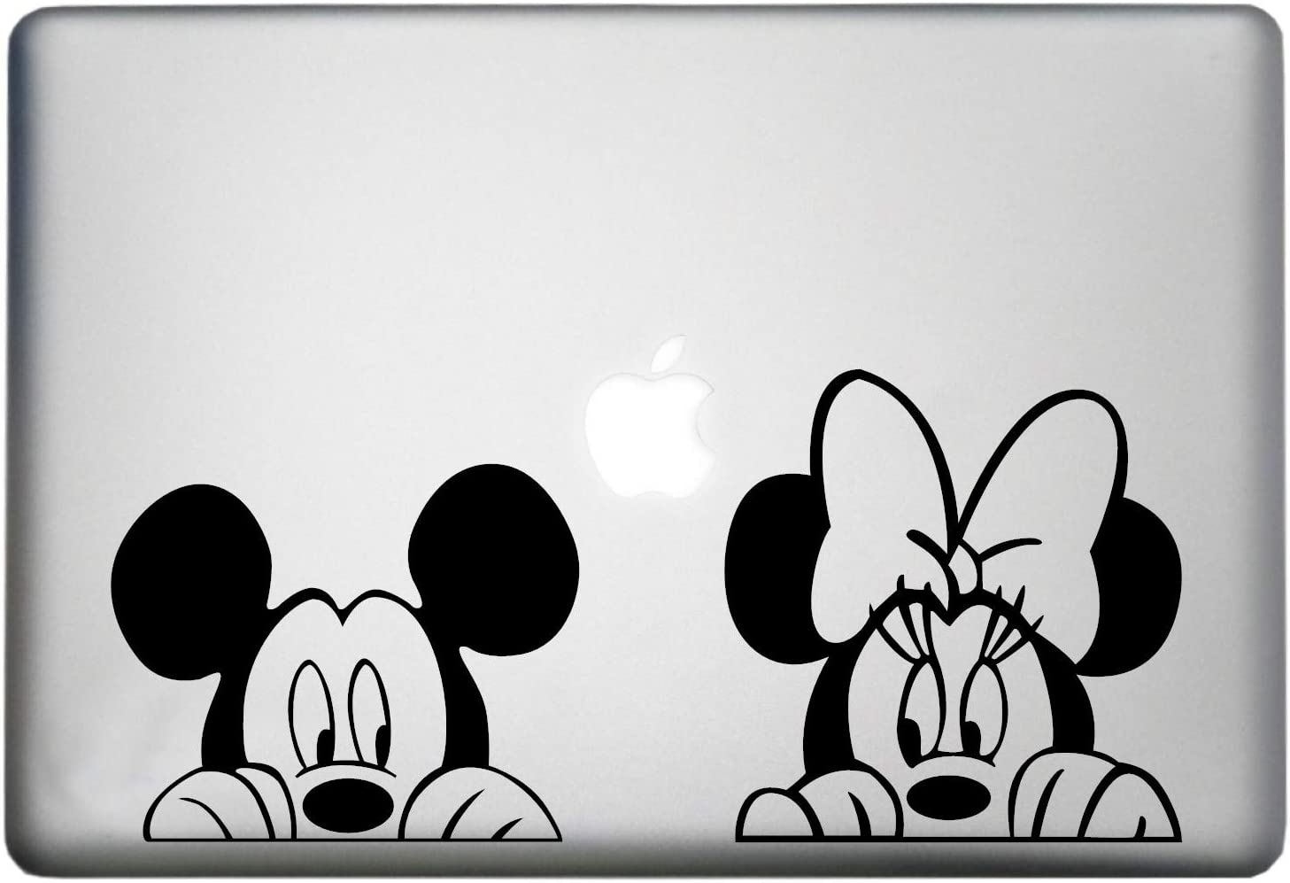 Walt Disney Mickey Mouse Sticker MacBook Air Pro Decal is a Mickey Mouse Decal. Laptop Size 11, 12, 13 and 15 inch. Looks Great with Your Mick Minnie Peeking Theme. Many Colors- Black