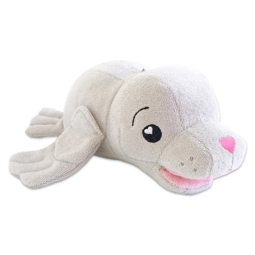 SoapSox Bath Scrub Kids Animal Antimicrobial Terry Cloth Bath Sponge ~ Charlotte The Seal
