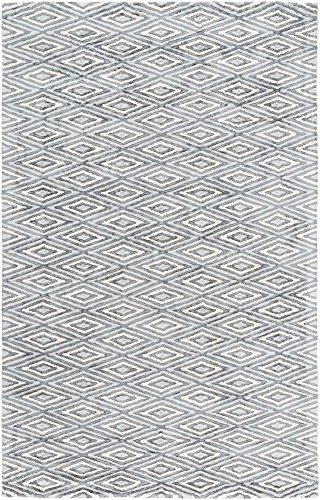 Sturbridge Moroccan Bohemian Trellis 6' x 9' Rectangle Modern 100% Viscose Charcoal/Light Gray/Cream Area Rug ()